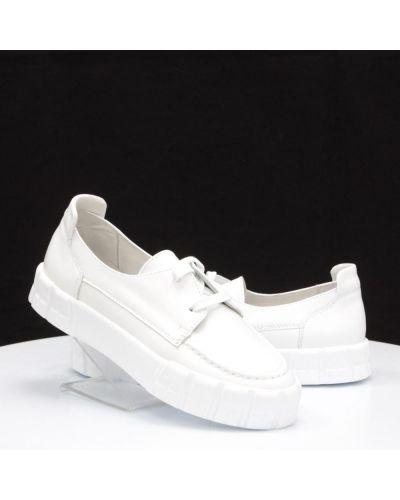 Кожаные туфли - белые Vadrus