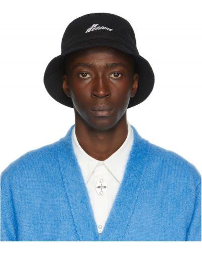 Ватная хлопковая белая шапка с вышивкой We11done