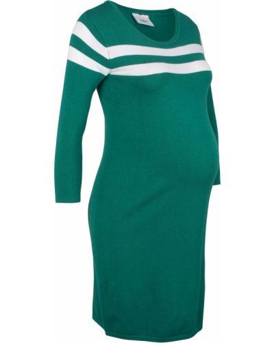 Платье макси с изумрудом вязаное Bonprix