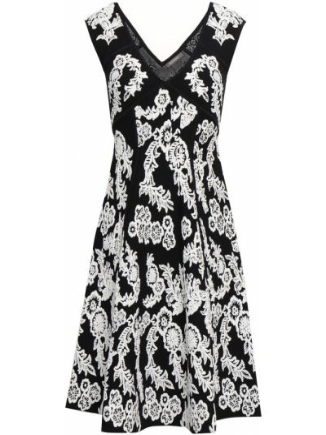 Расклешенное белое платье жаккардовое Zac Posen