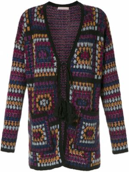 Акриловое фиолетовое пальто Cecilia Prado