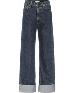 Прямые джинсы с манжетами mom Helmut Lang
