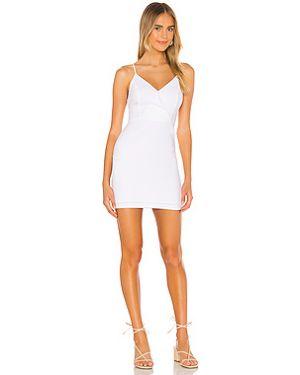 Белое коктейльное платье с запахом на молнии Bcbgeneration