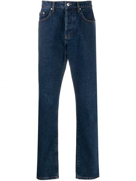 Синие прямые джинсы классические с карманами Kenzo