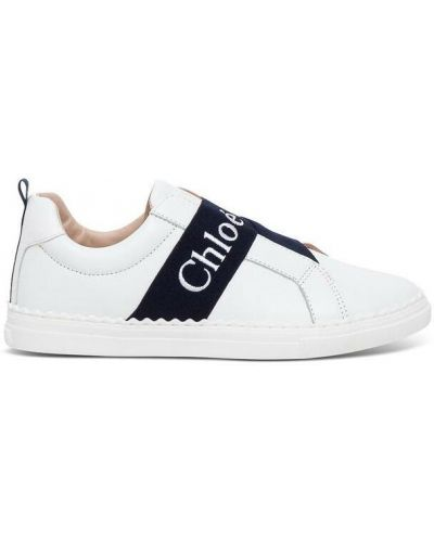 Białe sneakersy skorzane Chloe