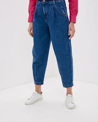 Расклешенные синие широкие джинсы United Colors Of Benetton
