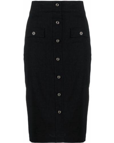 Czarna spódnica ołówkowa z wysokim stanem z wiskozy Pinko