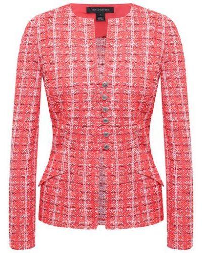 Красный пиджак твидовый St. John