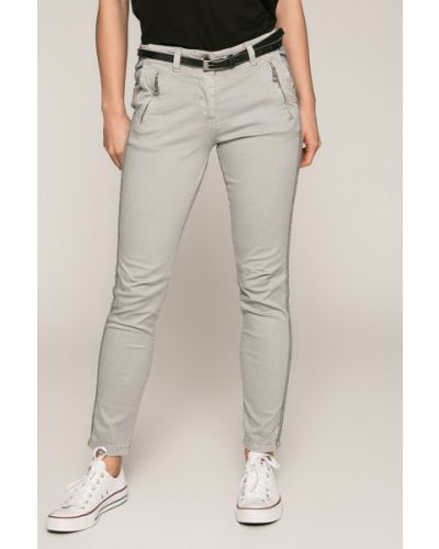 Серые зауженные брюки Answear