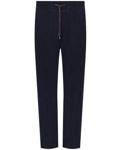 Хлопковые синие брюки Cortigiani