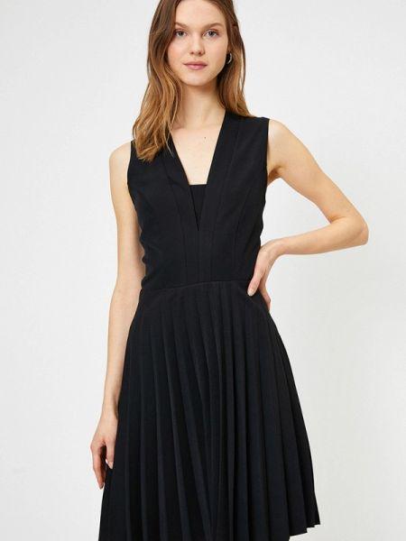 Платье прямое черное Koton