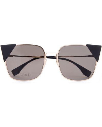 Солнцезащитные очки кошачий глаз металлические Fendi (sunglasses)