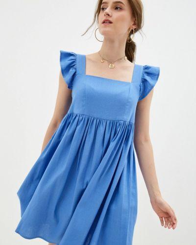 Голубое платье а-силуэта M,a,k You Are Beautiful