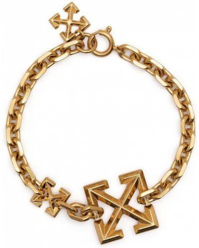 Biała złota bransoletka ze złota Off-white