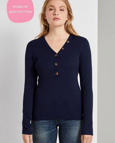 Синий пуловер Tom Tailor Denim