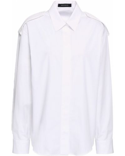 Biała koszula bawełniana z długimi rękawami Cedric Charlier