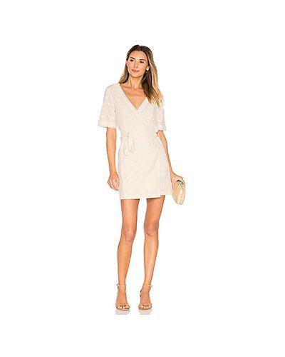 Платье мини с цветочным принтом с запахом с вышивкой Tularosa