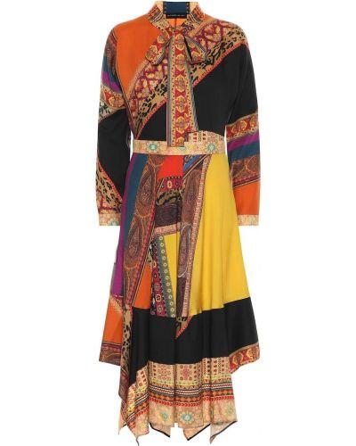 Платье миди деловое пэчворк Etro