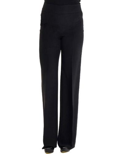 Шелковые брюки - черные Armani Collezioni
