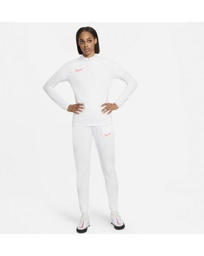 Белый трикотажный спортивный костюм на молнии Nike