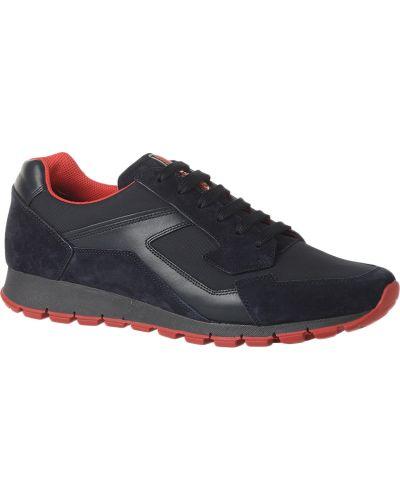 Кожаные кроссовки - черные Prada