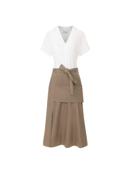 Платье миди футболка с V-образным вырезом 3.1 Phillip Lim