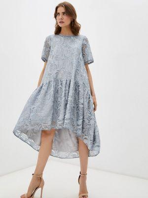 Повседневное серое платье мадам т