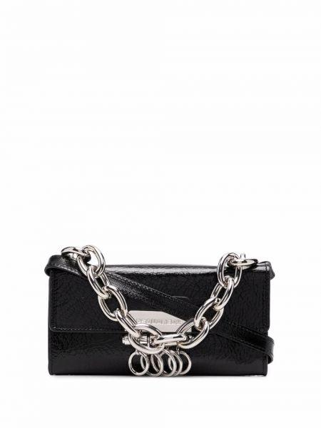Czarny łańcuszek srebrny Dsquared2