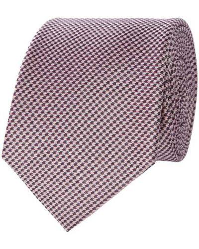 Klasyczny różowy krawat z jedwabiu Monti