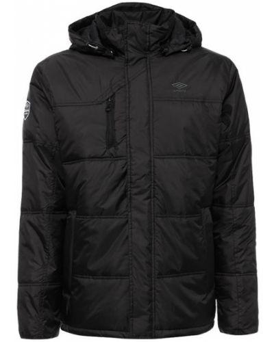 Утепленная куртка с капюшоном на кнопках Umbro