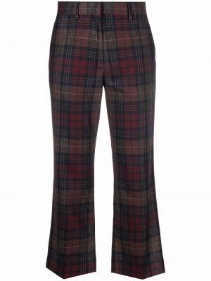 Укороченные брюки - коричневые Paul Smith