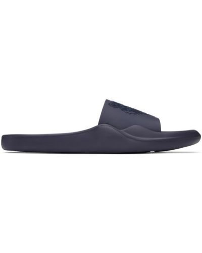 Открытые темно-синие шлепанцы на каблуке для бассейна Kenzo