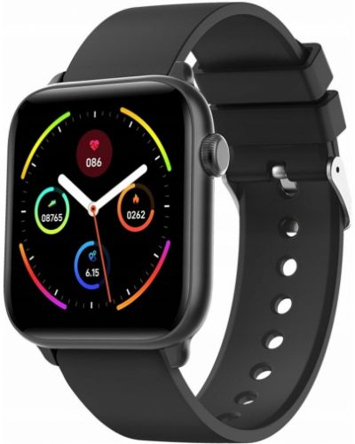 Czarny sport zegarek sportowy silikon Rubicon