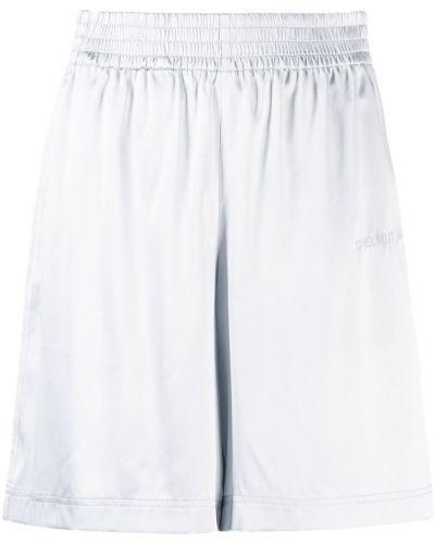 Серые с завышенной талией шорты с карманами Helmut Lang