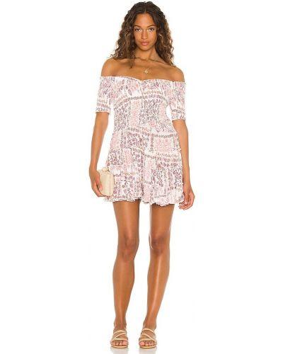 Платье мини с декольте - белое Poupette St Barth