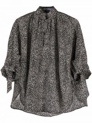 Черная шелковая рубашка Christian Wijnants