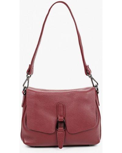 Красная сумка через плечо из натуральной кожи Valensiy