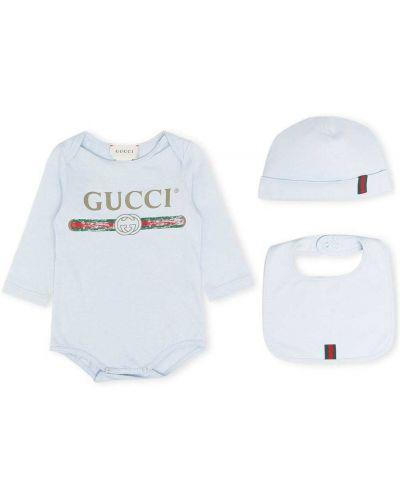 Niebieski body z printem Gucci Kids