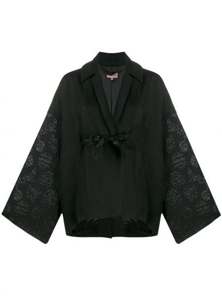 Прямая хлопковая черная куртка Romeo Gigli Pre-owned