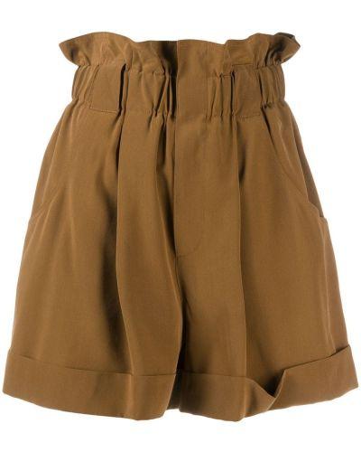 С завышенной талией шорты с карманами с отворотом Fendi