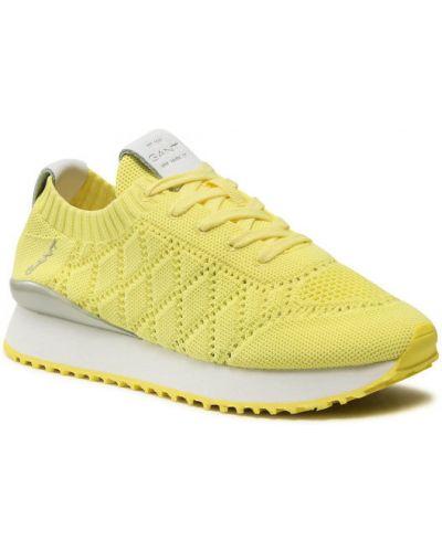 Żółte sneakersy Gant