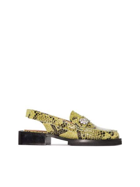 Loafers - żółte Ganni
