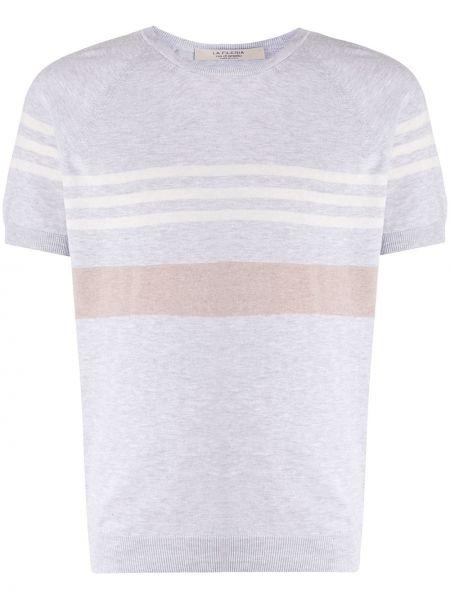 Прямая рубашка с короткими рукавами с нашивками La Fileria For D'aniello