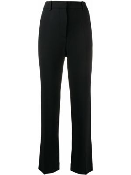 Черные укороченные брюки с воротником с карманами с высокой посадкой Joseph