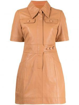 Оранжевое платье с воротником Alice Mccall