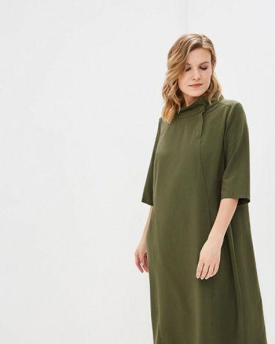 Повседневное платье зеленый хаки Zar Style