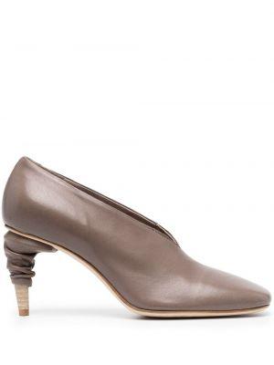 Кожаные туфли на каблуке на высоком каблуке Officine Creative