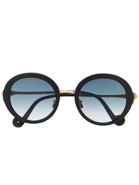 Прямые муслиновые черные солнцезащитные очки круглые Anna Karin Karlsson
