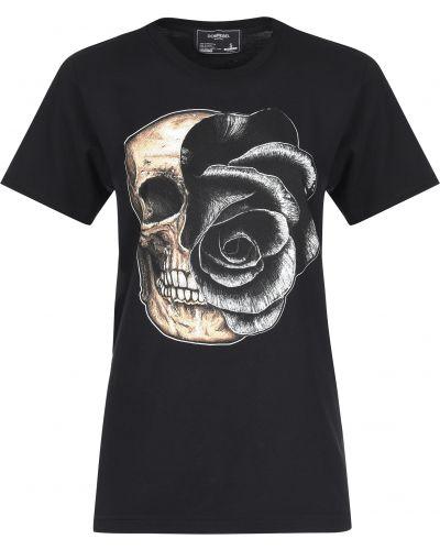 Хлопковая футболка - черная Domrebel
