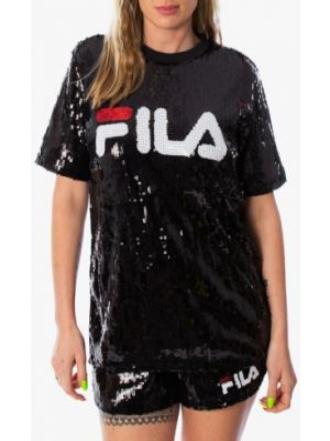 Футбольная черная футболка Fila